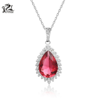 Fashion 925 Sterling Silver Stone Crystal Gemstone Pendant