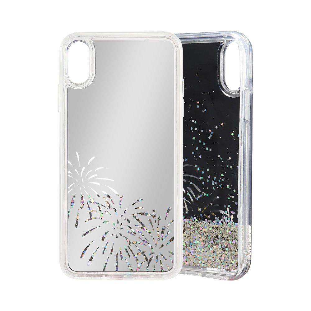 Promotion Popular Electroplating PC TPU Liquid Quicksand Glitter Firework <strong>Phone</strong> Case For Iphoen XS MAX XR