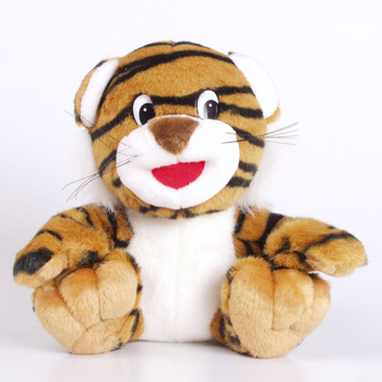 customized plush gift small 20cm cute black strips white tiger plush