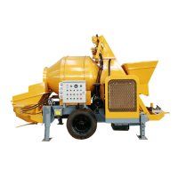 JBTS 30 Concrete mixer with pump diesel concrete mixer machine with pump