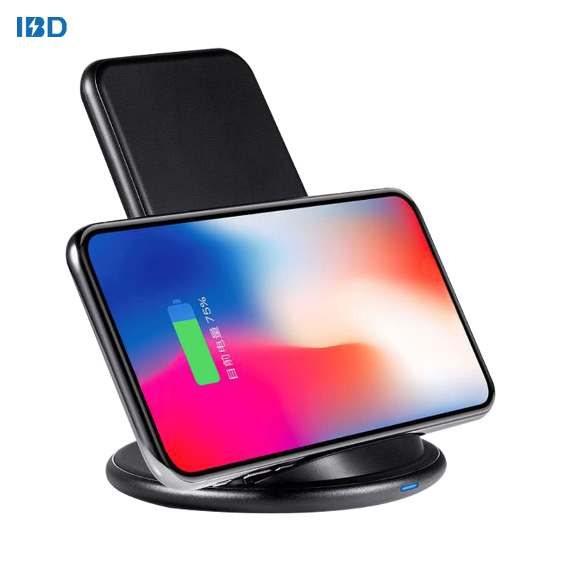 IBD 2 Coils Wireless Charger Stand, Wireless Charger Universal For Smart Mobile <strong>Phone</strong>