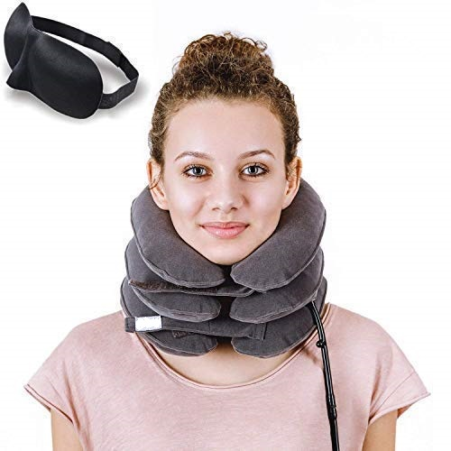 Neck Traction <strong>Device</strong> and Collar Brace Inflatable and Adjustable neck Support for Neck Pain Relief