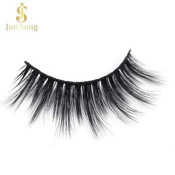 2019 Hot Sale Volume Faux Mink Eyelashes 3d Silk Synthetic Fiber Lashes with Boxes