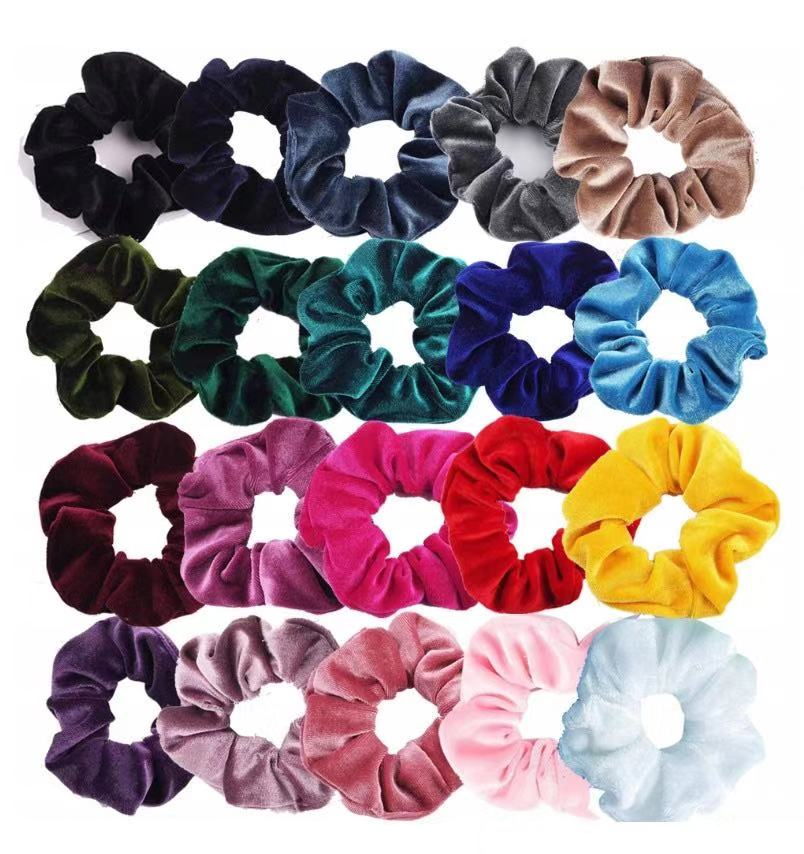 20colors Custom Women Girls Velvet <strong>Hair</strong> Ropes for Sale Elastic Velvet Scrunchies <strong>Hair</strong> <strong>Accessories</strong>