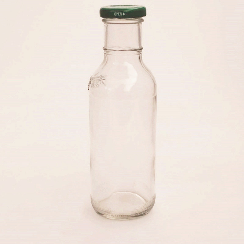 270ml Food Grade Glass Empty Bottle with Screw Lid for Storing Food Beverage Juice,Soda Water