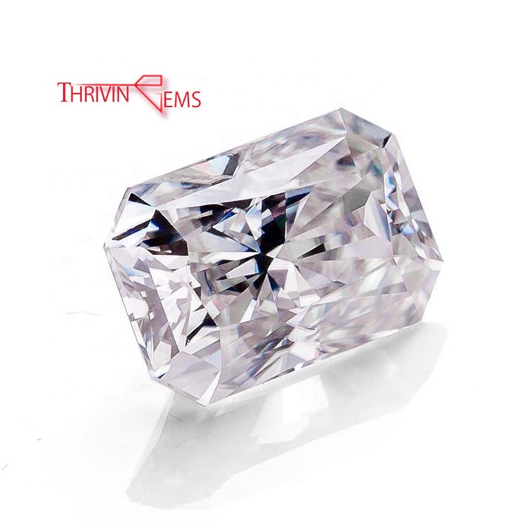 7x9mm 2ct New Radiant <strong>Cut</strong> Crushed <strong>Cut</strong> Synthetic White Moissanite Diamond Loose