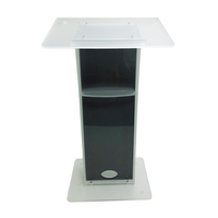 Factory customized adjustable acrylic lectern metal church lectern church pulpits