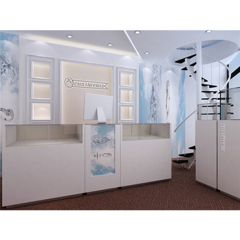 Customized Jewelry Display Showcase Showroom Jewelry Gold Watch Shop Counter Design