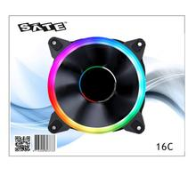 SATE(16C)Cheapest Stock computer case <strong>RGB</strong> LED fans PC 12V Cooling fan Rainbow Fan for Gaming computer