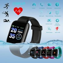 1.3 inch color screen waterproof <strong>smart</strong> <strong>watch</strong> 116 plus sport <strong>smart</strong> bracelet fitness tracker heart rate and blood pressure