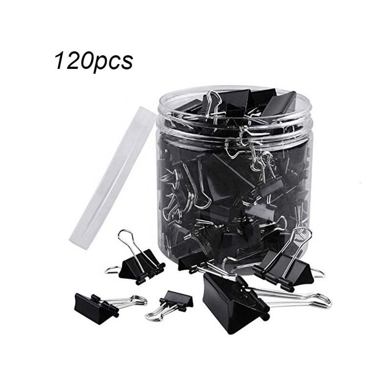 Amazon top seller 2019 office school a4 <strong>clips</strong> assorted size black metal binder <strong>clips</strong> paper binder <strong>clips</strong> with logo made in China