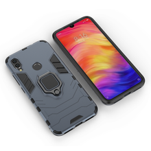 Wholesale metal magnetic car mount <strong>mobile</strong> <strong>phone</strong> back cover case For Xiaomi Redmi Note 7