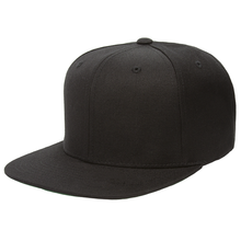Custom 3D Embroidered 6 Panel <strong>Flat</strong> Brim Caps Black Snapback Mens Hat