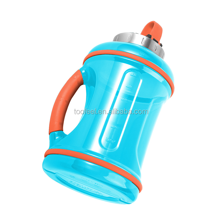 made in China portable wide mouth colorful reusable plastic drinking water bottle with lid