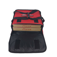 Classic Design Reusable Pizza Box Insulated Red Pizza Food Delivery Bag