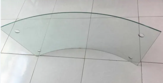 5-12mm Clear Curved Bent Tempered Glass For Bathroom Appliances