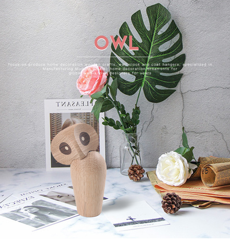 NASIDA The wooden handicrafts owl Athena and the symbol of wisdom wooden play birthday gift wood bird