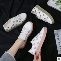 New shoes latest heart design woman fashion cute canvas girl casual shoes
