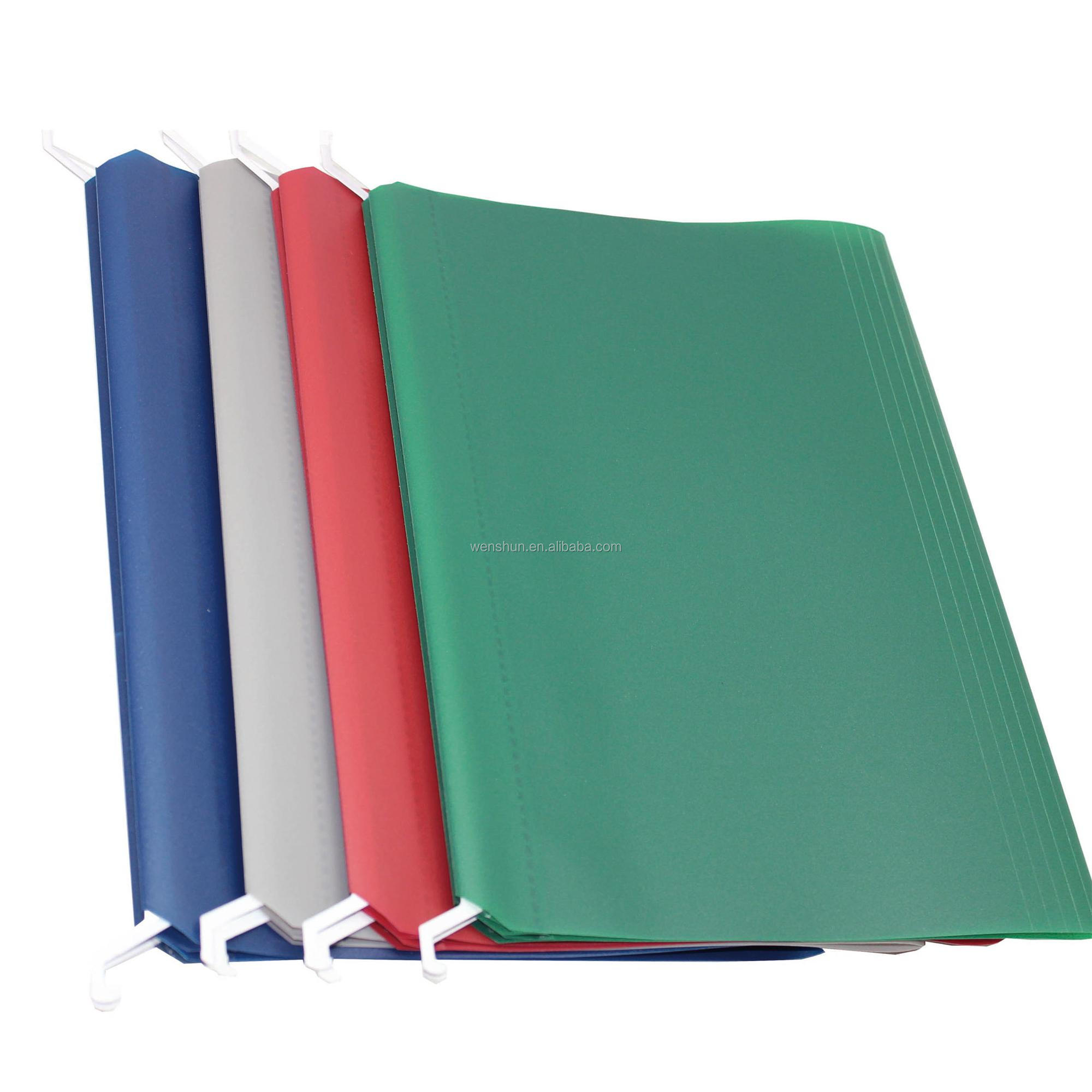Custom Eco-Friendly Plastic Durable FC Size Hanging File Folder