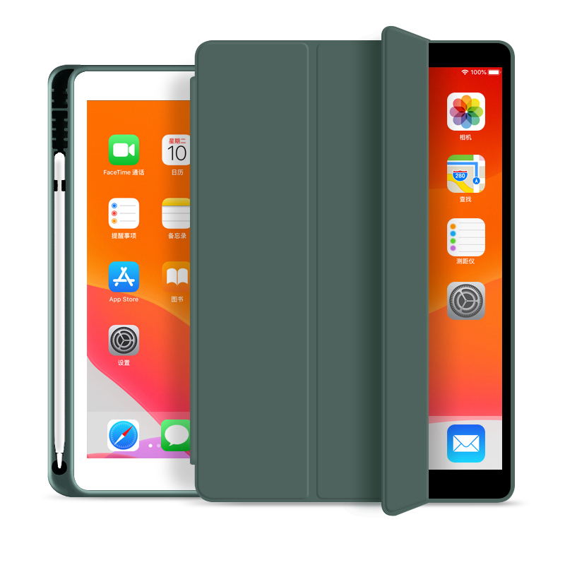 Smart Trifold Flip Case Cover for Apple <strong>iPad</strong> 7th Generation 10.2&quot; 2019 with Pencil Holder, Soft Flexible Back Cover