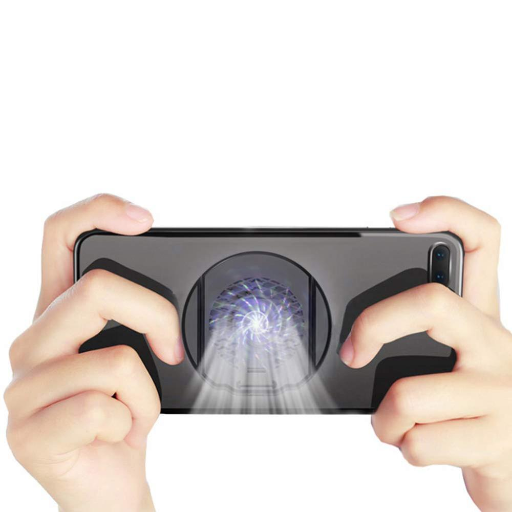 2 in 1 Portable Cell <strong>Phone</strong> Cooling Fan Stand Holder <strong>Case</strong> Mobile <strong>Phone</strong> Gaming Shooter Heat Sink Game