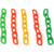 6mm plastic warning chain for roadway safety yellow in stock