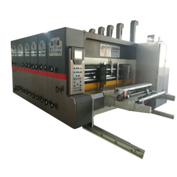high speed Four colour carton box flexo printing slotting die cutting machine