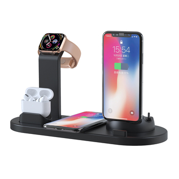 Amazon Top Seller 3 in 1 Wireless Charging Dock Charge Station , qi Fast Charger Dock Stand for iPhone for Air Pods Watch