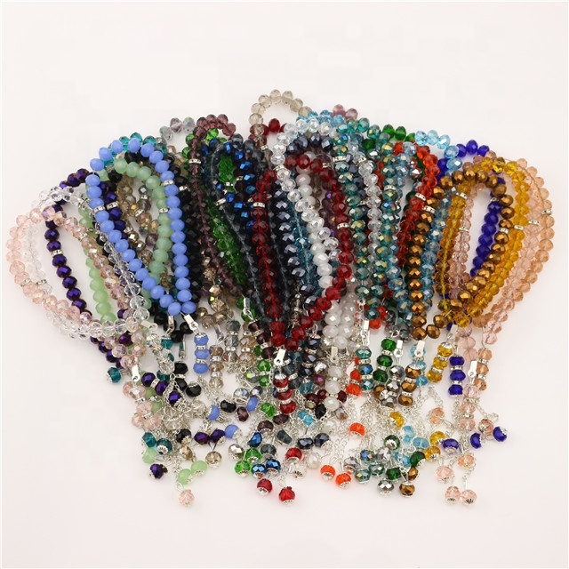 Cheap Muslim Crystal Prayer Beads crystal bead prayer muslim rosary crystal islamic prayer bead/8mm Rosary Bracelet Jewelry