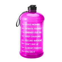 Logo custom portable 3.78L plastic drink gallon water bottle for outdoor gym <strong>sport</strong>