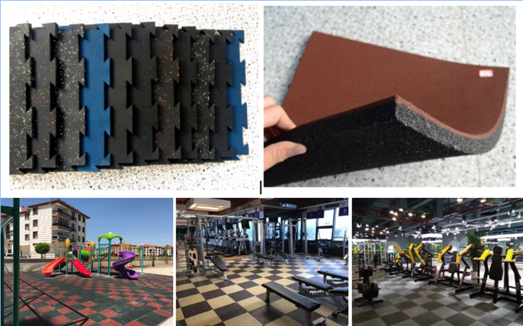 colorful rubber flooring/playground rubber floor covering
