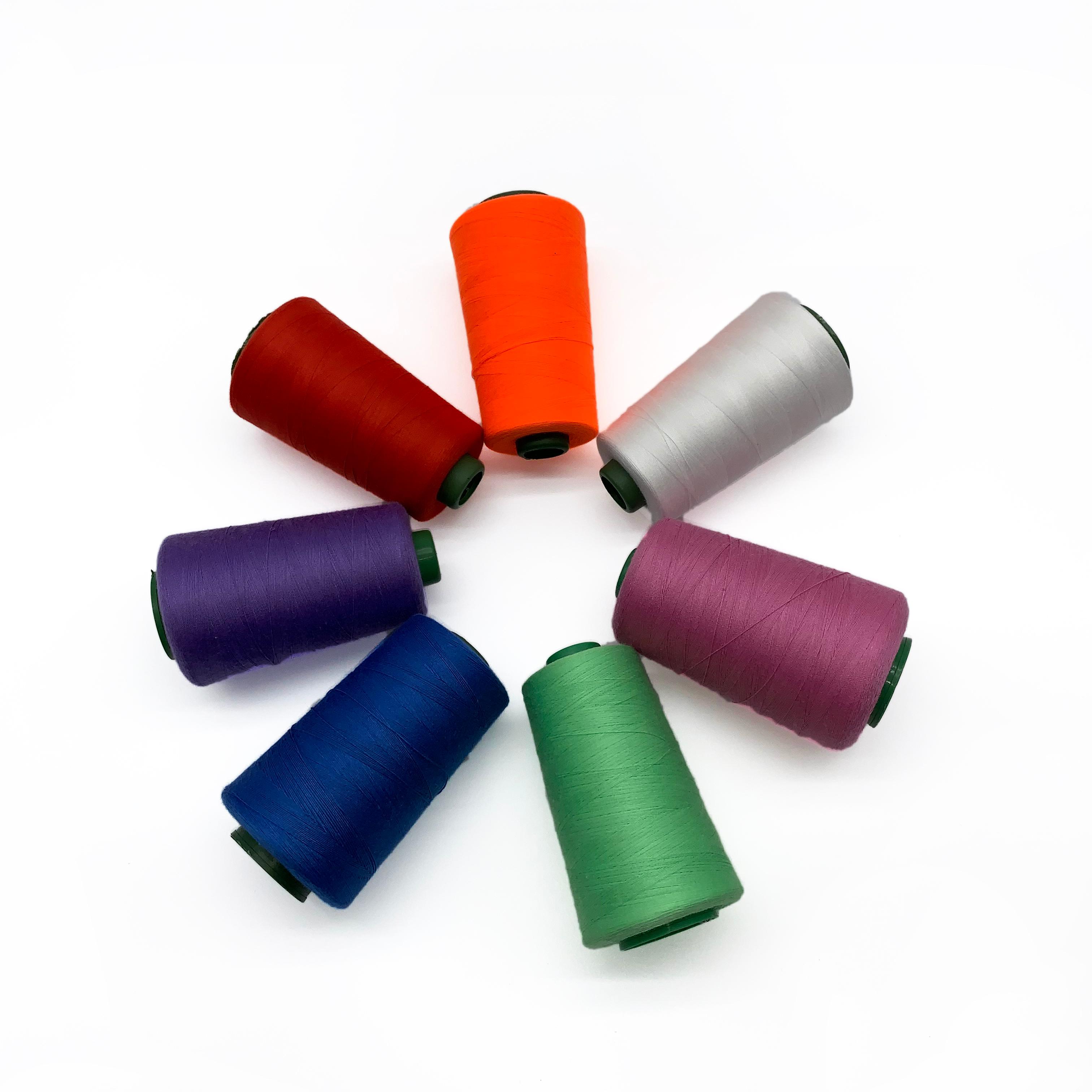 DARK GREY 120s spun polyester overlocker sewing machine thread 5000yd cones
