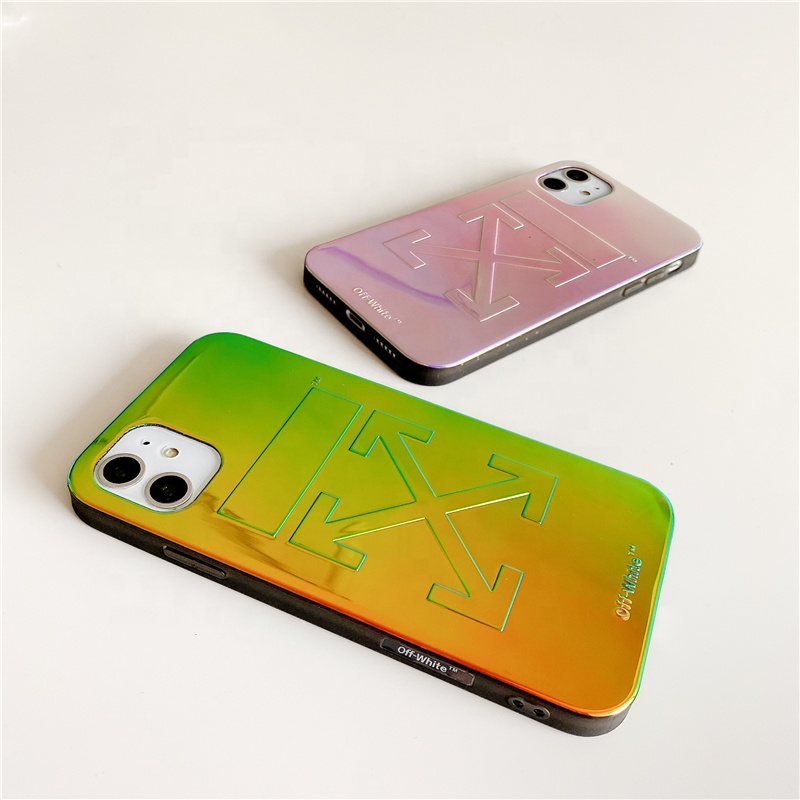 2020 Modern <strong>case</strong> for all iphone models laser shiny cell <strong>phone</strong> <strong>case</strong> full protection O/W luxury style