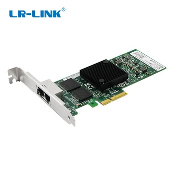 LREC9722PT PCI Express x4 Dual Copper Port 10/100/1000Mbps Network Card (Intel I350AM2 Based)