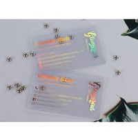 Holographic Neon Transparent Plastic Cards, Foil Print Flash Business Card Pvc