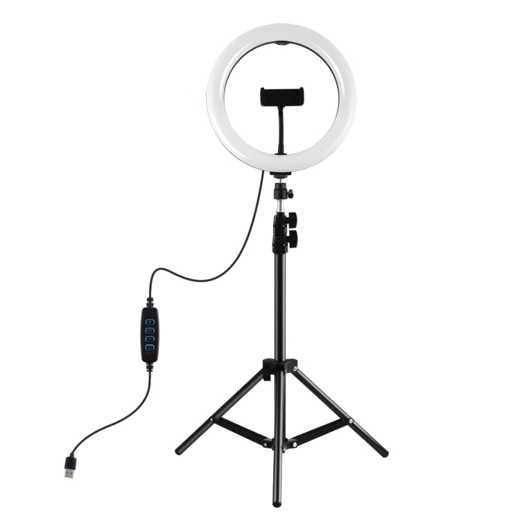 Custom made PULUZ 10.2 inch 26cm Ring <strong>Light</strong> + 1.1m Tripod Mount USB 3 Modes Temperature <strong>LED</strong> Curved Diffuse <strong>Light</strong> Vloggin
