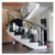 Modern square stainless steel railings and glass stair columns for hotels