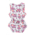 summer toddler clothing for girls button closed newborn infant baby girls romper with flower printing
