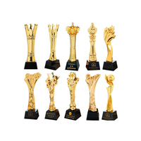 Wholesale Cheap Custom Metal Sport Gold Award Cup Football And Medals Trophies