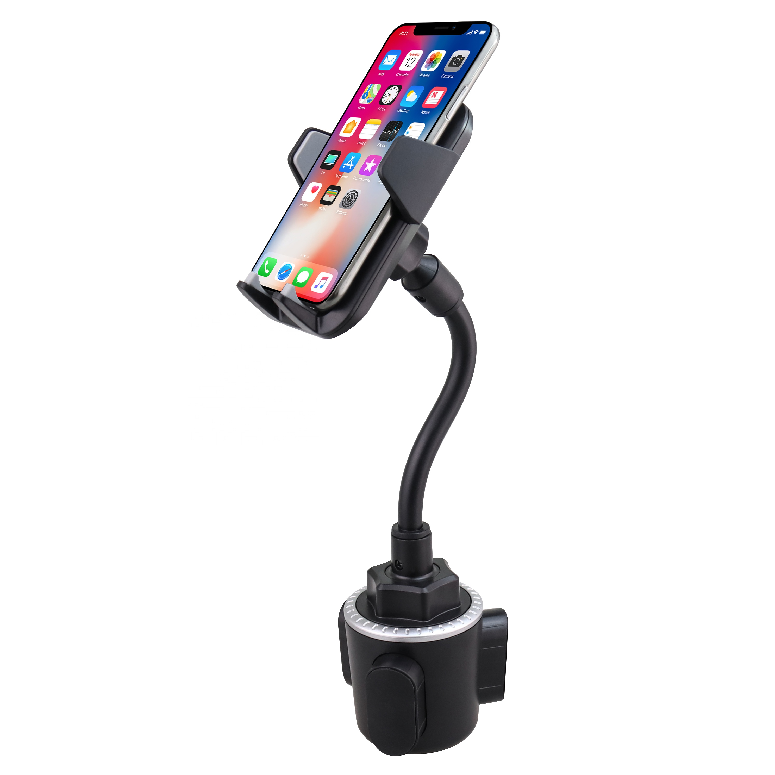 2020 New Gooseneck Car Cup Holder Cell Phone Mount Flexible Long Arm H125+<strong>C115</strong>