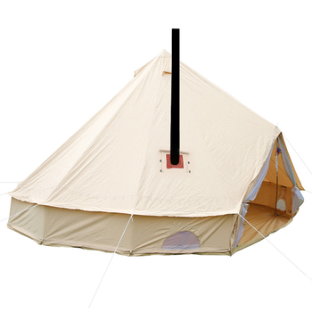 8 person high quality wood door canvas bell tent with wood stove