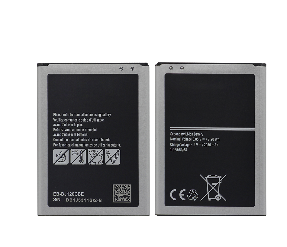 Gb/T 18287-2013 Mobile Phone Battery 3.85V 2050Mah Eb-Bj120Cbe For Samsung Galaxy <strong>J1</strong> 2016 J120