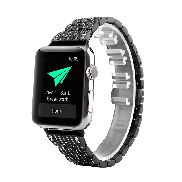 Applicable for iwatch with diamond stainless steel 123 generation metal diamond watchband