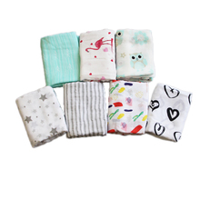 100% Bamboo Cotton Muslin Blankets,Soft Baby Swaddle Blankets for Newborns,Two Layer Large 47*47 Inch Customized Design