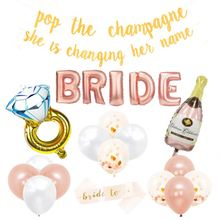 Bachelorette Party Decorations Kit | Bridal Shower Supplies | Bride to Be Sash Gold Glitter Banner Bride to be Set