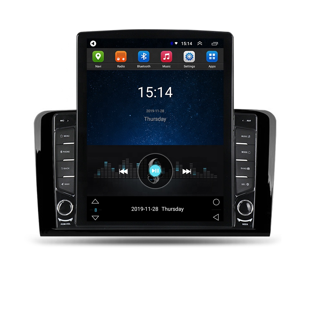 Tesla Vertical <strong>Android</strong> IPS+2.5D+DSP 4G LTE Car Radio Player For Benz M-Class <strong>W164</strong> GL-Class X164 ML GL ML350 ML500 GL320 ML280