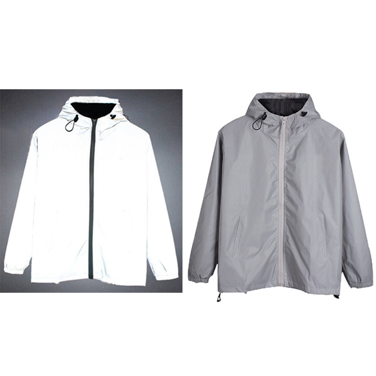 high visibility silver reflector security clothing retro reflective work uniforms jacket for road traffic <strong>safety</strong>