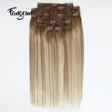 <strong>100</strong>% Real Remy Thick Double Weft Long Lasting Clip in Human Hair Extension