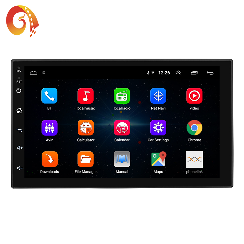 2 Din 7 Inch Android 1024*600 Full Touch Screen Bluetooth Mirror Link Vlc Apk Stereo Car Radio System DVD Player