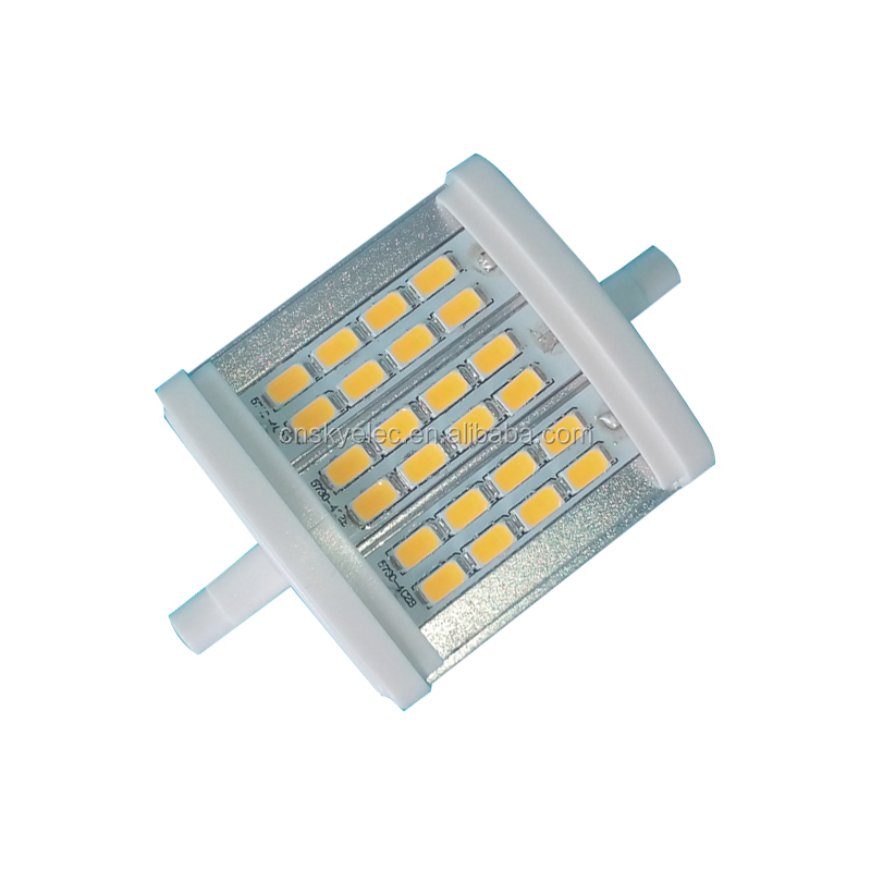 R7s LED Bulb 78mm 8W Dimmable <strong>220</strong>-240V/110-130V J78 80W Halogen Bulbs Equivalent <strong>J</strong> Type Light R7s Base Double Ended Floodlight